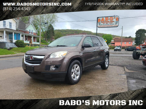 2008 Saturn Outlook for sale at BABO'S MOTORS INC in Johnstown PA