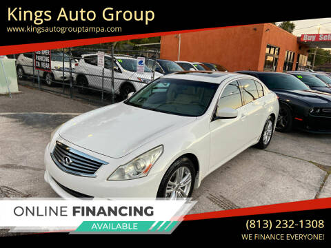 2012 Infiniti G37 Sedan for sale at Kings Auto Group in Tampa FL