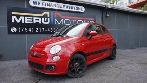 2012 FIAT 500 for sale at Meru Motors in Hollywood FL