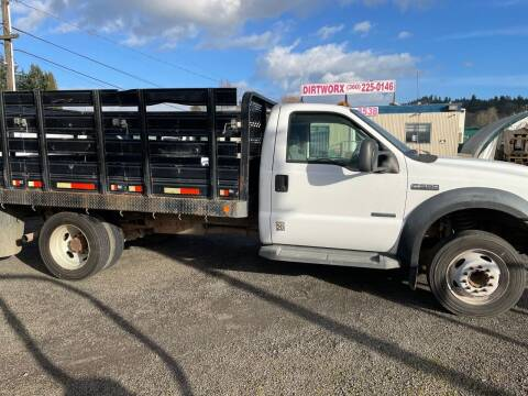2007 Ford F-550 for sale at DirtWorx Equipment - Trucks in Woodland WA