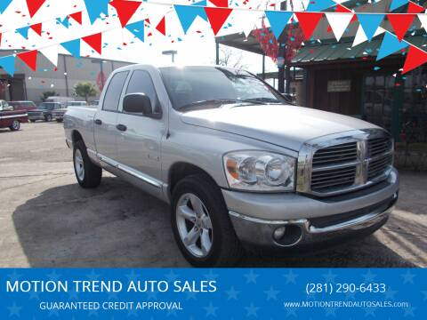 2008 Dodge Ram Pickup 1500 for sale at MOTION TREND AUTO SALES in Tomball TX