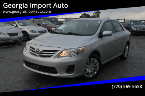 2013 Toyota Corolla for sale at Georgia Import Auto in Alpharetta GA