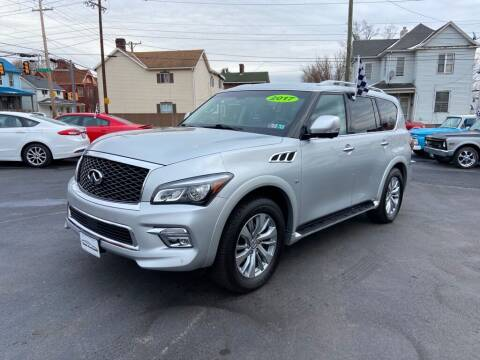 2017 Infiniti QX80 for sale at Sisson Pre-Owned in Uniontown PA