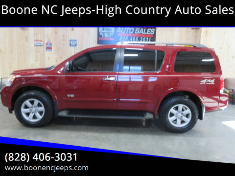 2009 Nissan Armada for sale at Boone NC Jeeps-High Country Auto Sales in Boone NC
