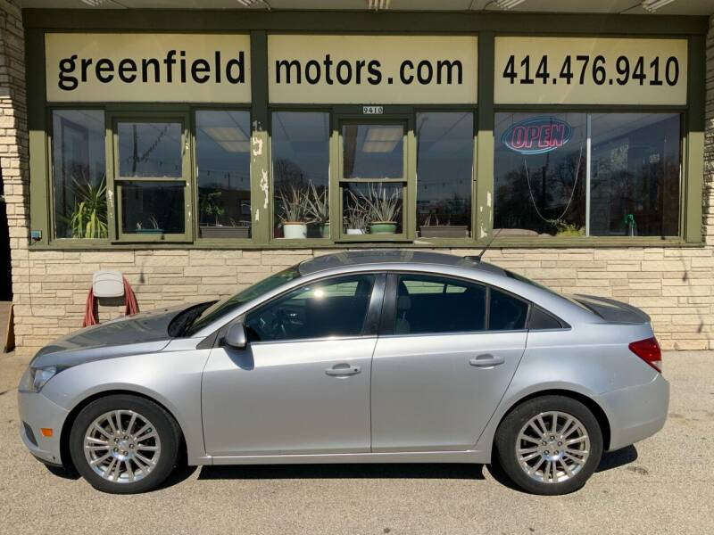 2012 Chevrolet Cruze for sale at GREENFIELD MOTORS in Milwaukee WI