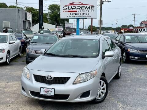 2010 Toyota Corolla for sale at Supreme Auto Sales in Chesapeake VA