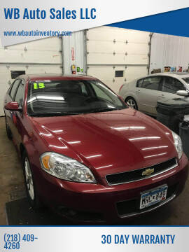 2013 Chevrolet Impala for sale at WB Auto Sales LLC in Barnum MN