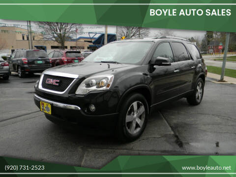 2012 GMC Acadia for sale at Boyle Auto Sales in Appleton WI