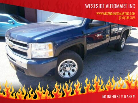 2010 Chevrolet Silverado 1500 for sale at WESTSIDE AUTOMART INC in Cleveland OH