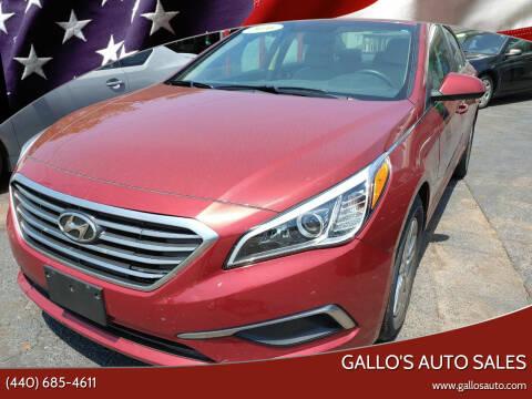 2016 Hyundai Sonata for sale at Gallo's Auto Sales in North Bloomfield OH
