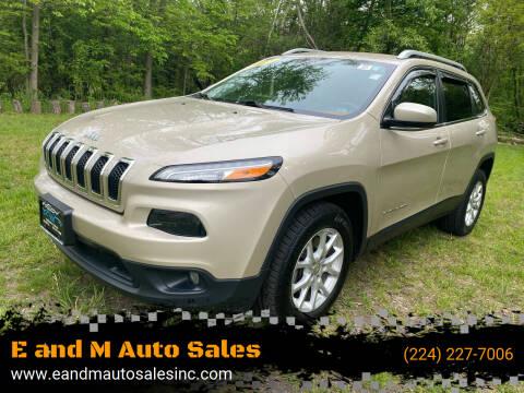 2015 Jeep Cherokee for sale at E and M Auto Sales in Elgin IL