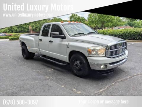 2008 Dodge Ram Pickup 3500 for sale at United Luxury Motors in Stone Mountain GA