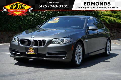 2014 BMW 5 Series for sale at West Coast Auto Works in Edmonds WA
