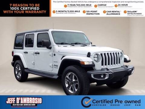 2018 Jeep Wrangler Unlimited for sale at Jeff D'Ambrosio Auto Group in Downingtown PA