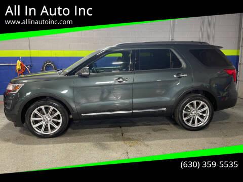2016 Ford Explorer for sale at All In Auto Inc in Addison IL