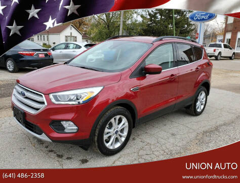 2019 Ford Escape for sale at Union Auto in Union IA