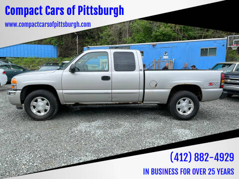 2006 GMC Sierra 1500 for sale at Compact Cars of Pittsburgh in Pittsburgh PA