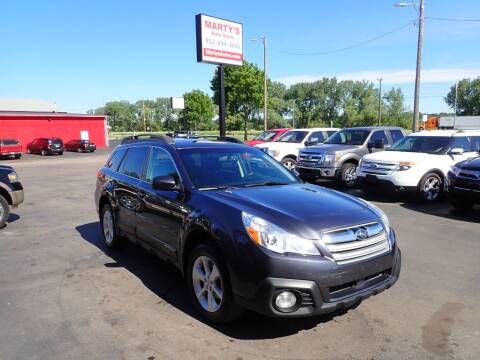 2013 Subaru Outback for sale at Marty's Auto Sales in Savage MN