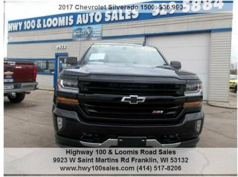 2017 Chevrolet Silverado 1500 for sale at Highway 100 & Loomis Road Sales in Franklin WI