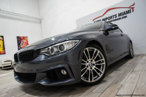 2016 BMW 4 Series for sale at AUTO IMPORTS MIAMI in Fort Lauderdale FL