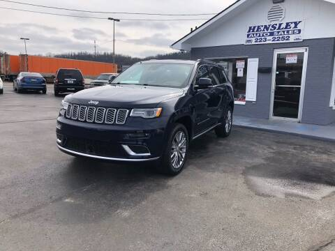 2018 Jeep Grand Cherokee for sale at Hensley Auto Sales in Frankfort KY