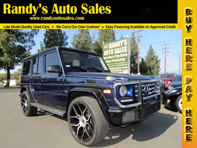 2017 Mercedes-Benz G-Class for sale at Randy's Auto Sales in Ontario CA