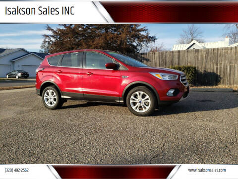 2017 Ford Escape for sale at Isakson Sales INC in Waite Park MN