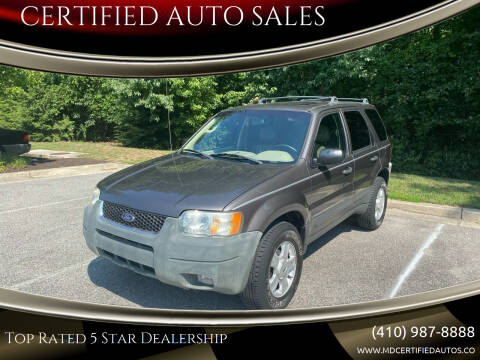 2003 Ford Escape for sale at CERTIFIED AUTO SALES in Severn MD