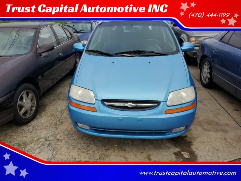 2006 Chevrolet Aveo for sale at Trust Capital Automotive Inc. in Covington GA