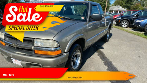 2000 Chevrolet S-10 for sale at MBL Auto in Fredericksburg VA