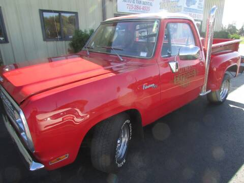 1979 Dodge D150 Pickup for sale at Toybox Rides in Black River Falls WI