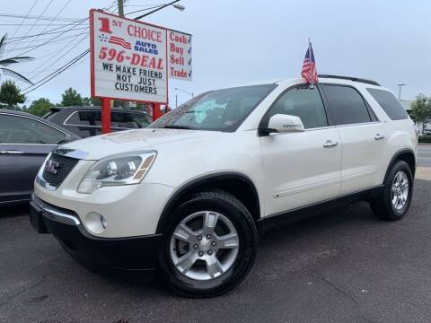 2009 GMC Acadia for sale at 1st Choice Auto Sales in Newport News VA