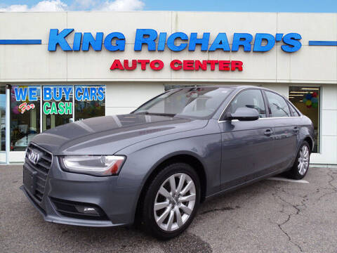 2013 Audi A4 for sale at KING RICHARDS AUTO CENTER in East Providence RI