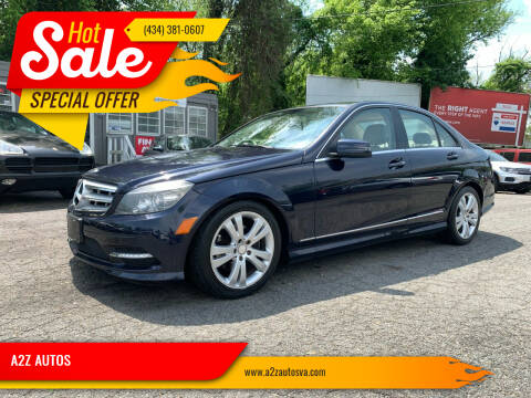 2011 Mercedes-Benz C-Class for sale at A2Z AUTOS in Charlottesville VA