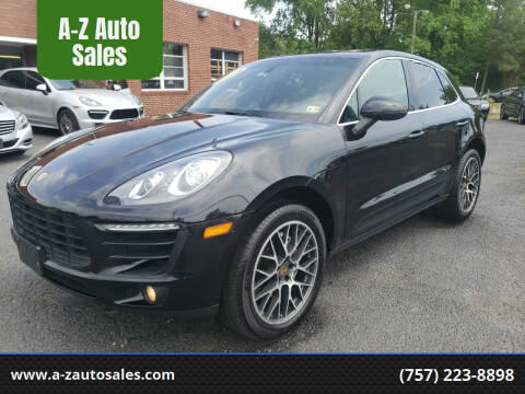 2015 Porsche Macan for sale at A-Z Auto Sales in Newport News VA