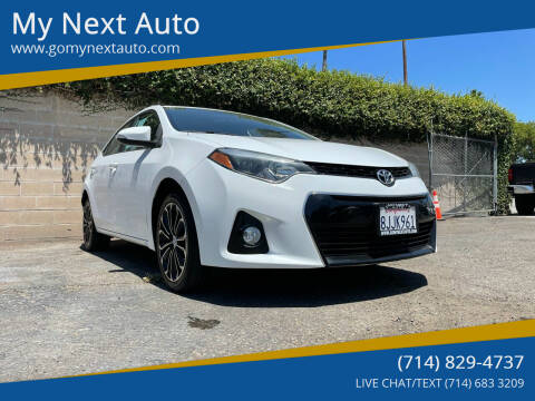 2016 Toyota Corolla for sale at My Next Auto in Anaheim CA