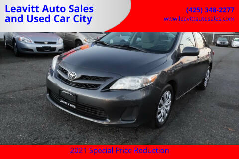 2012 Toyota Corolla for sale at Leavitt Auto Sales and Used Car City in Everett WA