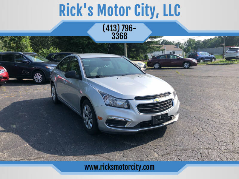 2015 Chevrolet Cruze for sale at Rick's Motor City, LLC in Springfield MA