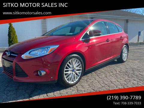 2012 Ford Focus for sale at SITKO MOTOR SALES INC in Cedar Lake IN