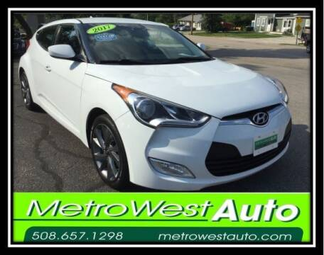 2017 Hyundai Veloster for sale at Metro West Auto in Bellingham MA