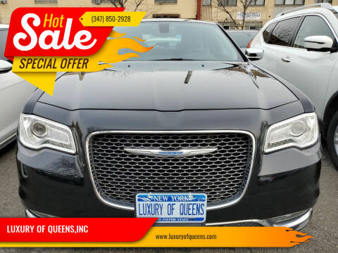 2018 Chrysler 300 for sale at LUXURY OF QUEENS,INC in Long Island City NY