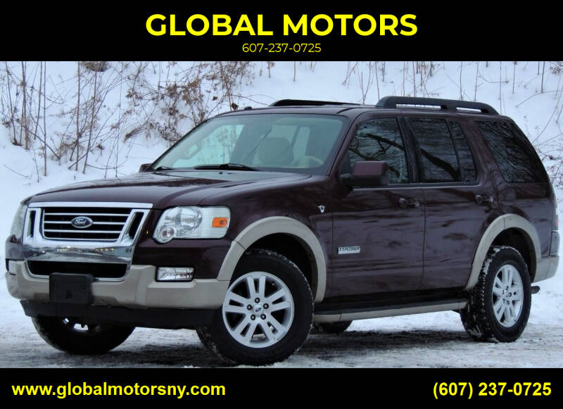 2008 Ford Explorer for sale at GLOBAL MOTORS in Binghamton NY