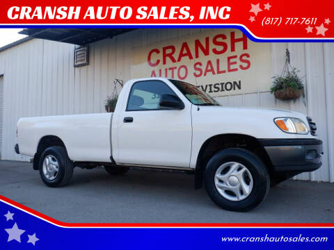 2002 Toyota Tundra for sale at CRANSH AUTO SALES, INC in Arlington TX