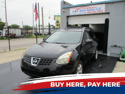 2008 Nissan Rogue for sale at K & V AUTO SALES LLC in Hollywood FL