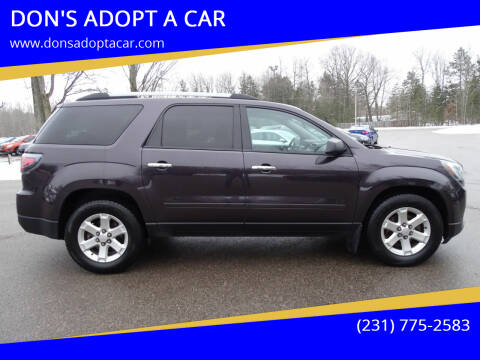 2015 GMC Acadia for sale at DON'S ADOPT A CAR in Cadillac MI