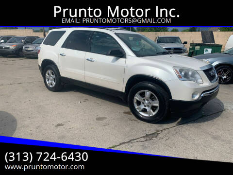 2011 GMC Acadia for sale at Prunto Motor Inc. in Dearborn MI