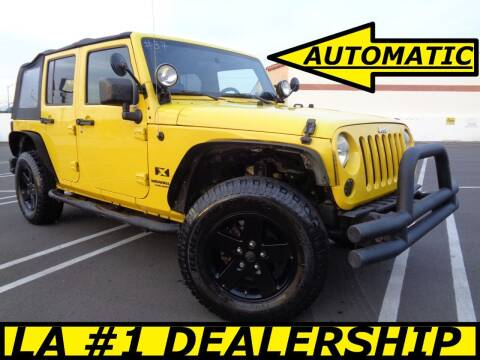 2009 Jeep Wrangler Unlimited for sale at ALL STAR TRUCKS INC in Los Angeles CA