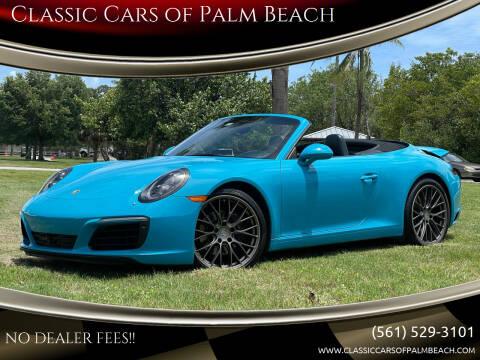 2017 Porsche 911 for sale at Classic Cars of Palm Beach in Jupiter FL