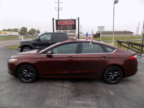 2016 Ford Fusion for sale at MYLENBUSCH AUTO SOURCE in O` Fallon MO