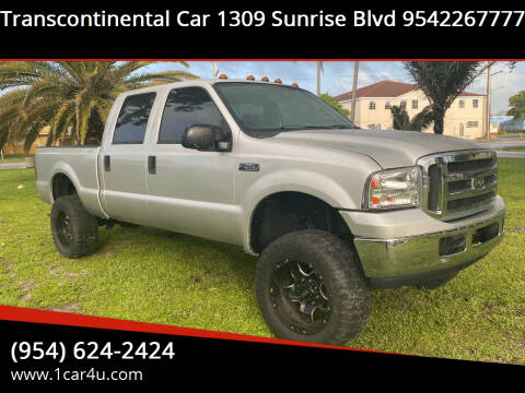 2004 Ford F-250 Super Duty for sale at Transcontinental Car in Fort Lauderdale FL